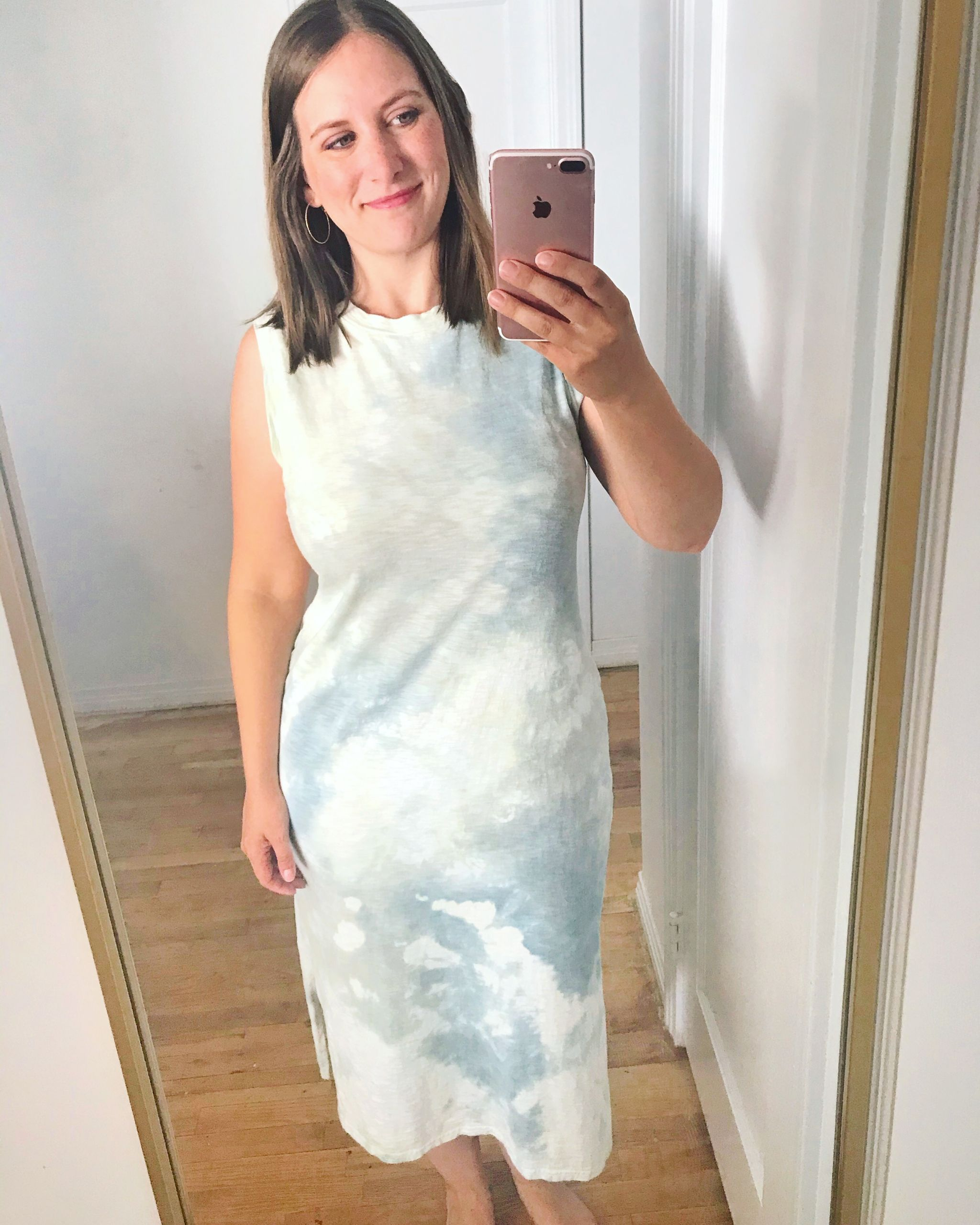 blue tie dye dress from Target - affordable fashion buys