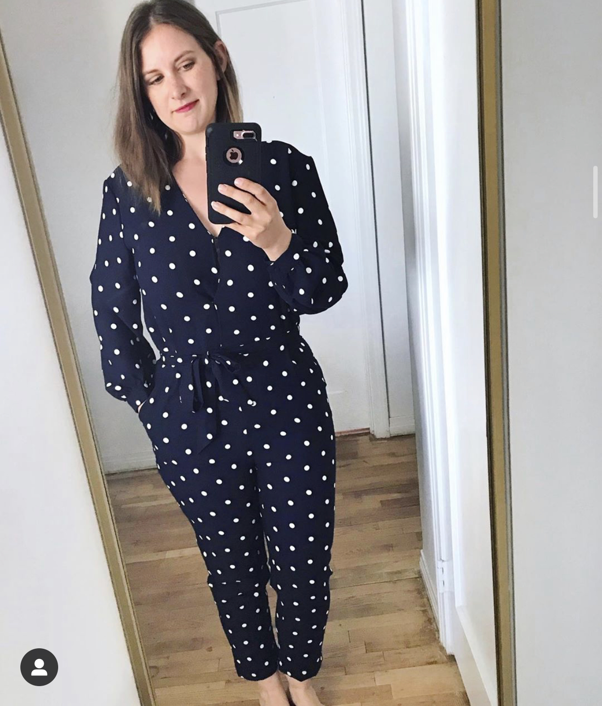 Scoop polka dot jumpsuit from Walmart - affordable fashion buys