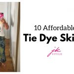 affordable tie dye skirts