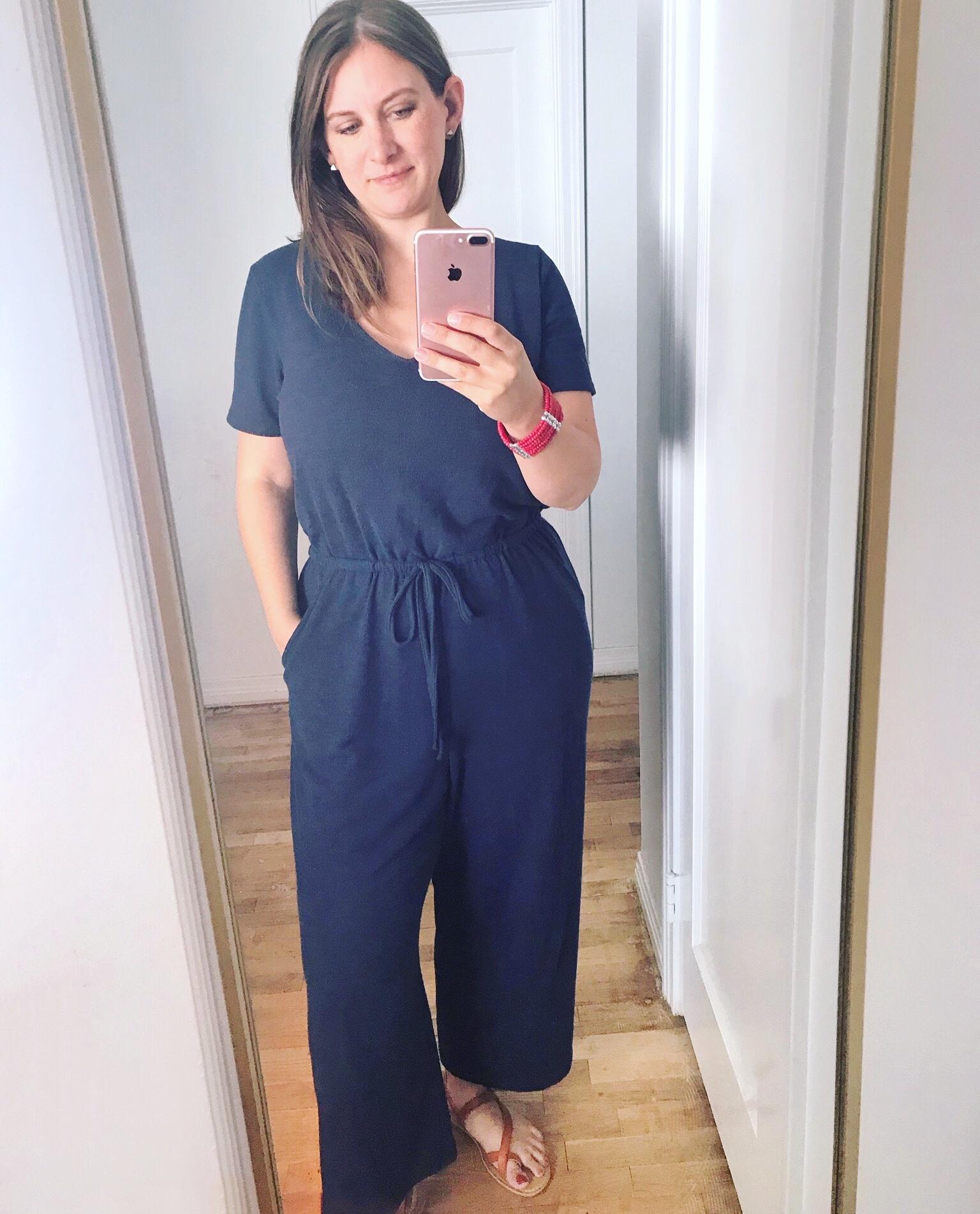 Old Navy Boucle-Knit Jumpsuit - comfy jumpsuits
