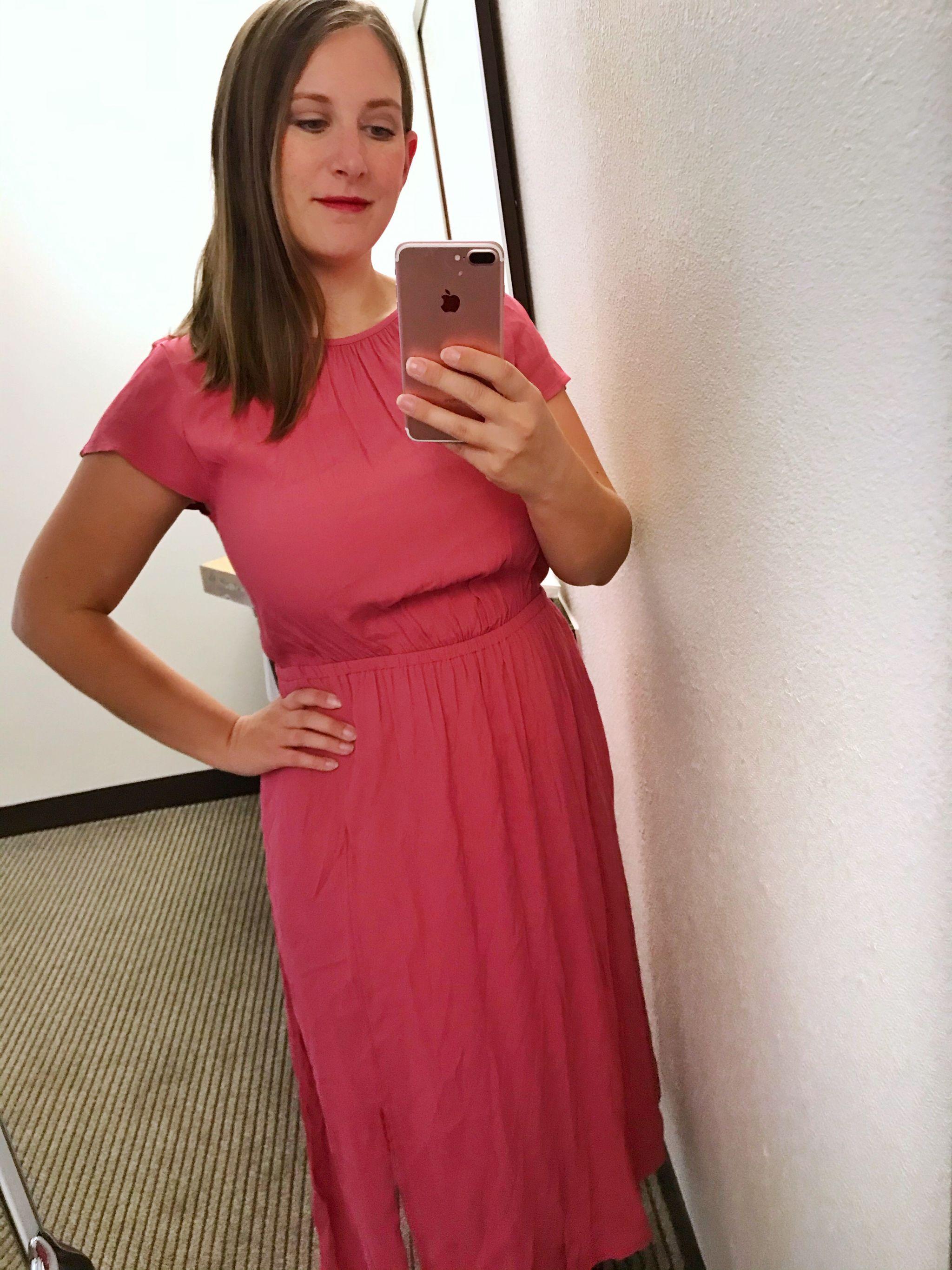 A New Day Short Sleeve Cinched Waist Dress