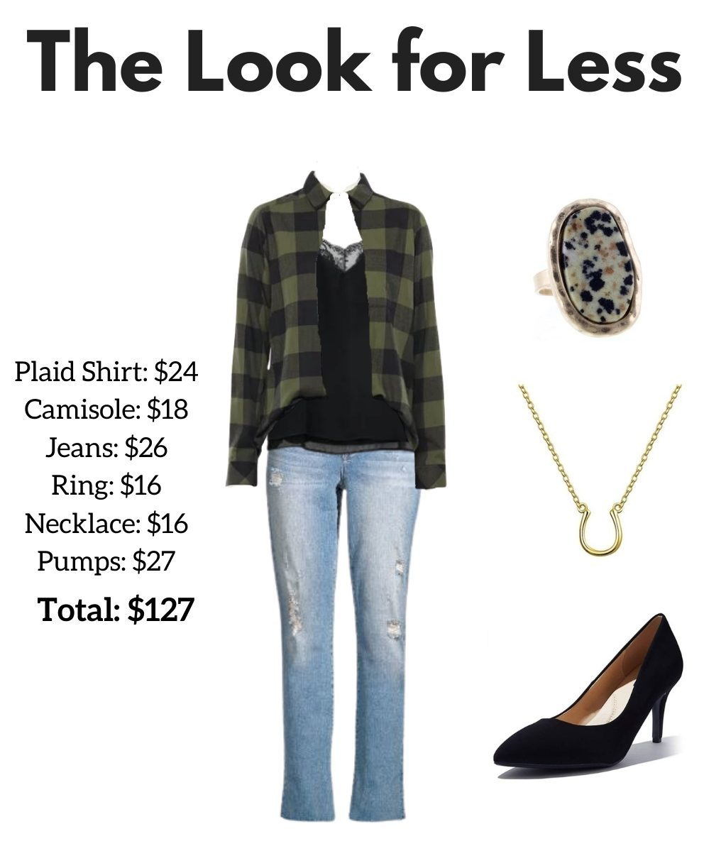 affordable fall outfit idea - plaid look - JK Style