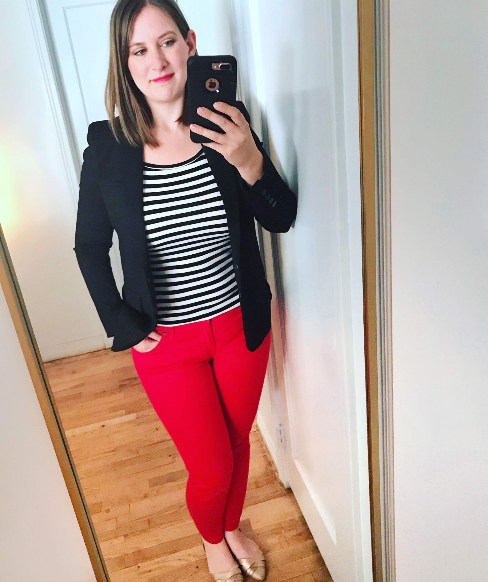 black and white striped t shirt styling - JK Style
