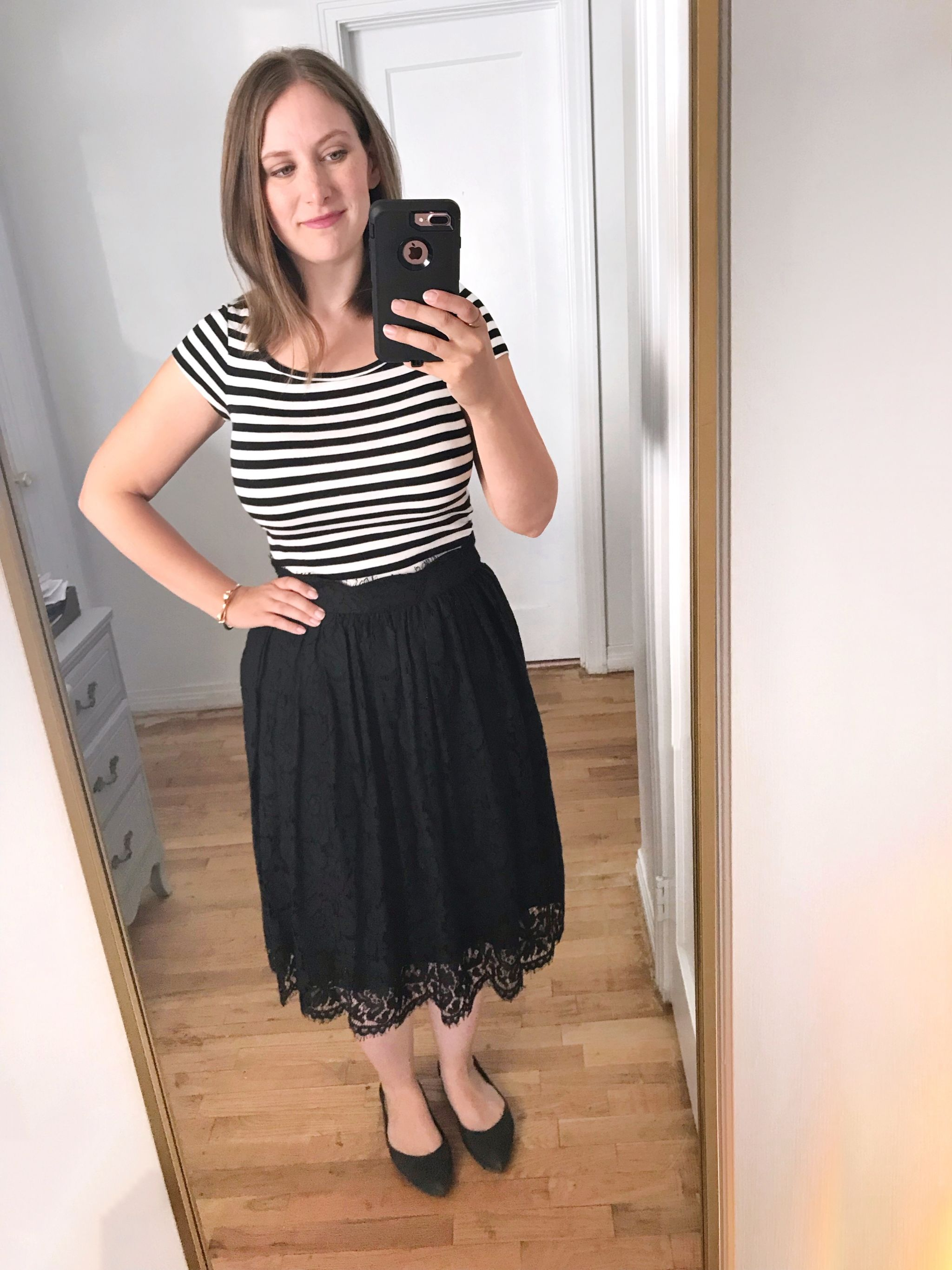 black and white striped t shirt outfit - JK Style